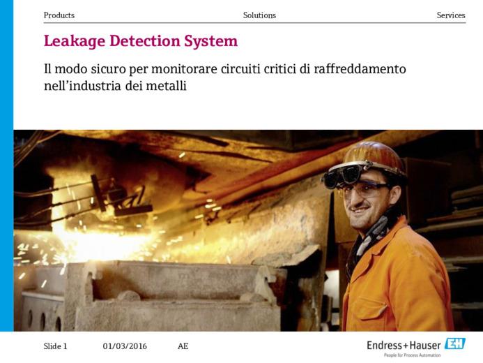 """La soluzione di """"Leakage Detection"""" nei circuiti di raffreddamento in"""