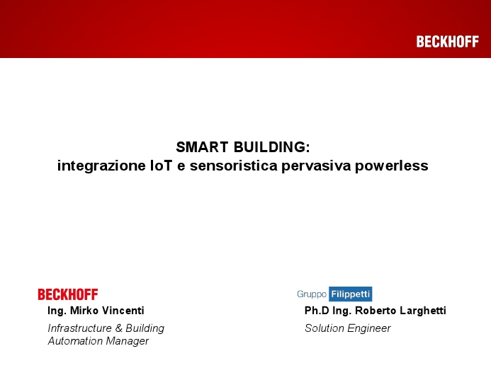 Smart Building: Integrazione IoT e sensoristica pervasiva powerless