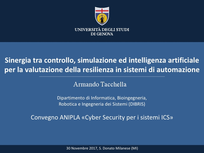Assessing Resilience of Cyber-Physical Systems: Control, Simulation and AI join forces