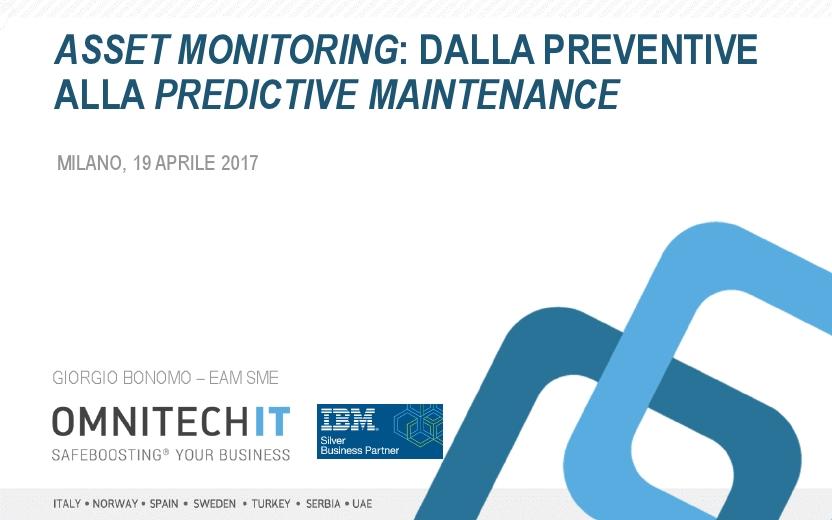 Asset Monitoring: dalla Preventive alla Predictive Maintenance