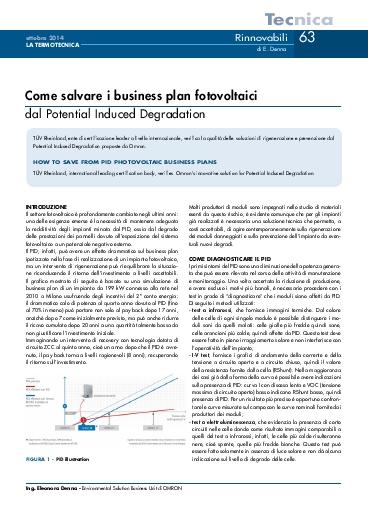 simulazione business plan fotovoltaico