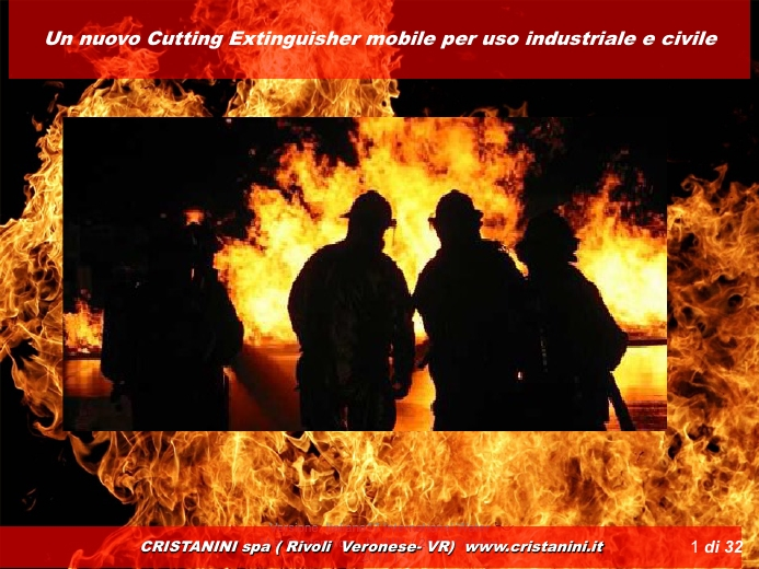 Sviluppo di un Cutting Extinguisher mobile per uso industriale e civile