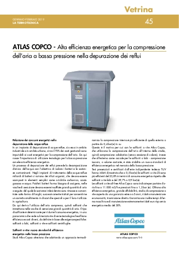 Alta efficienza energetica per la compressione