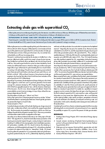 Extracting shale gas with supercritical CO2