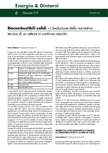 Biocombustibili solidi - L