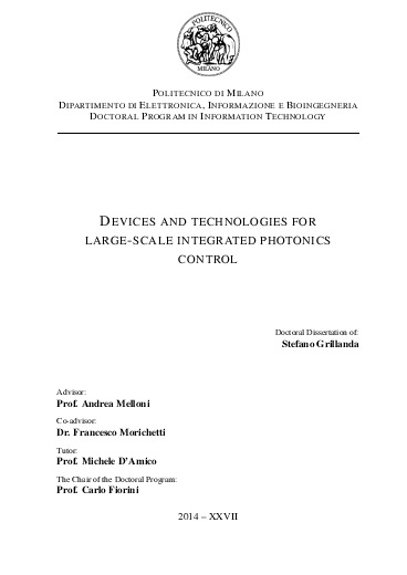 Devices and technologies for large-scale integrated photonics control