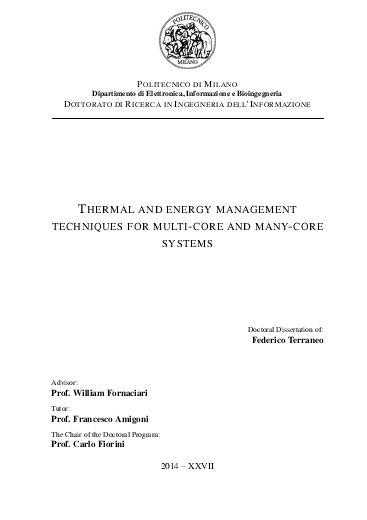 Thermal and energy management techniques for multi-core and many-core systems