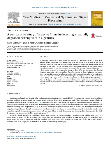 A comparative study of adaptive filters in detecting a naturally