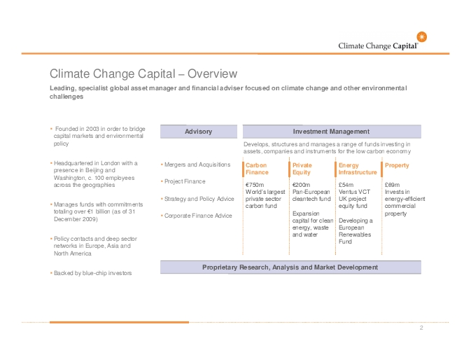 Climate change capital private equity