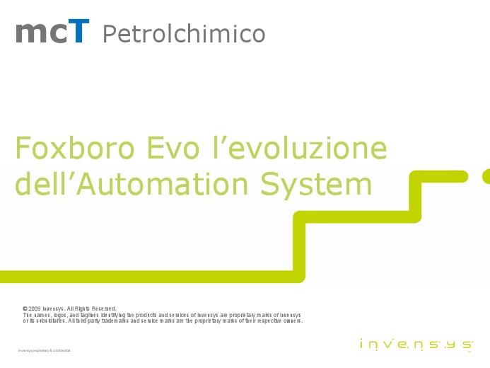 Foxboro Evo: l'evoluzione dell'Automation Systems