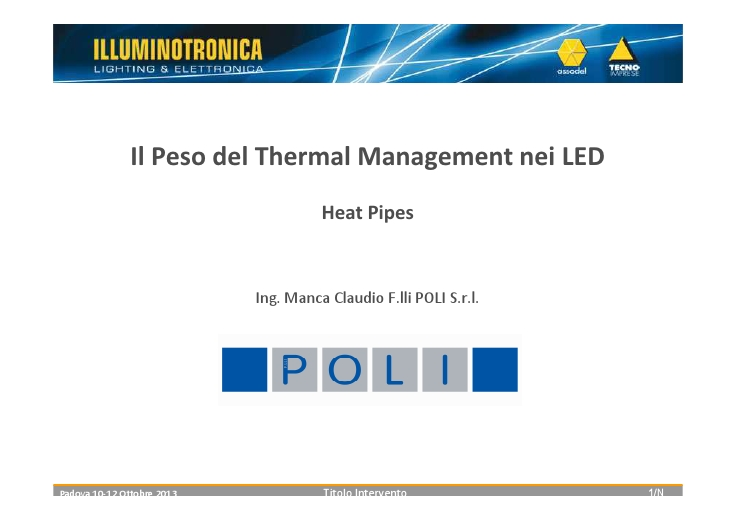 Il Peso del Thermal Management nei LED
