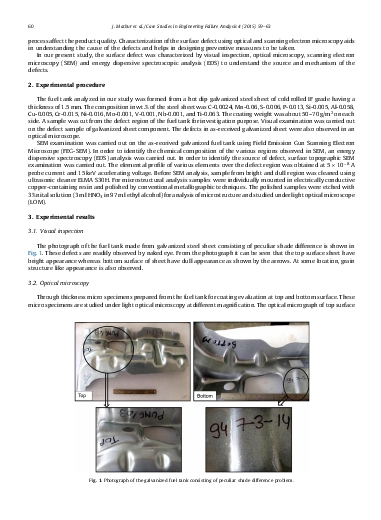 Failure analysis of edge discoloration of galvanized fuel tank