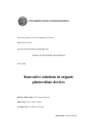 Innovative solution in organic photovoltaic devices.