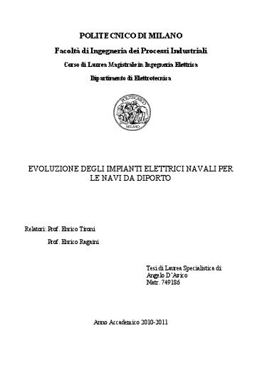Schemi Elettrici Navi : Schemi impianti elettrici navali software dimensionamento