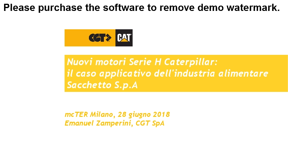 Nuovi motori Serie H Caterpillar: il caso applicativo dell