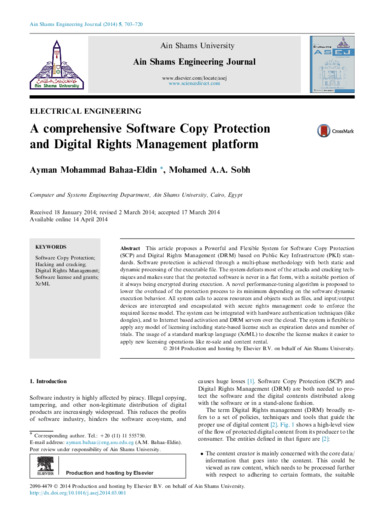 A comprehensive software copy protection and digital rights management platform