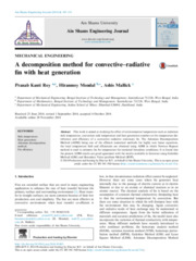 A decomposition method for convective–radiative fin with heat generation