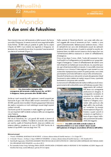 A due anni da Fukushima