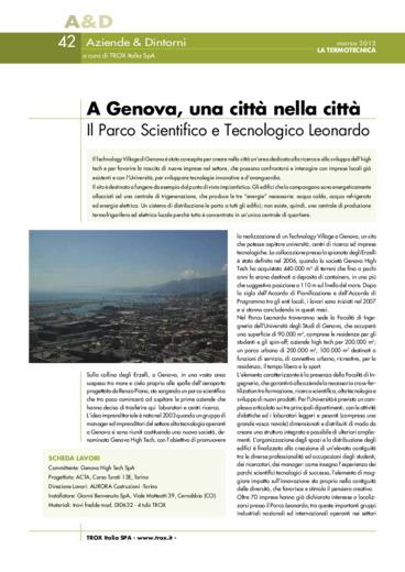 A Genova, una città nella città. Il Parco Scientifico e