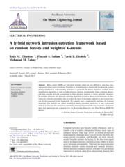 A hybrid network intrusion detection framework based on random forests