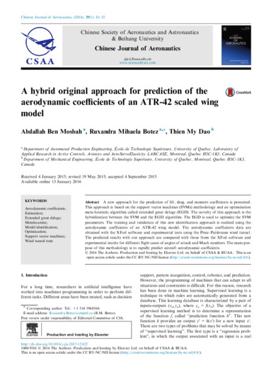 A hybrid original approach for prediction of the aerodynamic coefficients