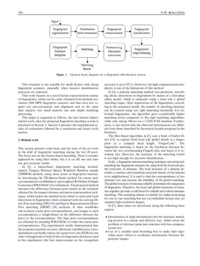 A medium resolution fingerprint matching system