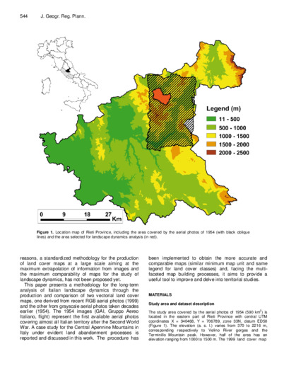 A methodology proposal for land cover change analysis using historical