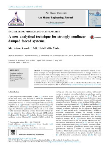 A new analytical technique for strongly nonlinear damped forced systems