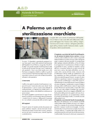 A Palermo un centro di sterilizzazione marchiato Aermec