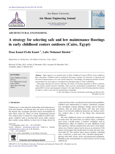 A strategy for selecting safe and low maintenance floorings in