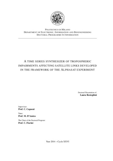 A time series synthesizer of tropospheric impairments affecting satellite links