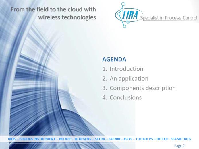 Acquisizione di segnali dal campo al cloud mediante tecnologie wireless