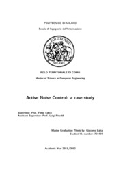Active noise control: a case study
