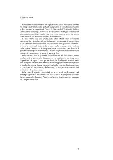 Adattamento di un guanto con tessuto sensorizzato al campo dell