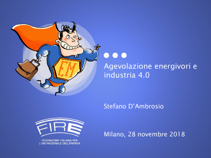 Agevolazione energivori e industria 4.0