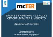 Aggiornamenti normativi - biogas e biometano