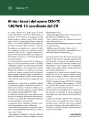 Al via i lavori del nuovo CEN/TC 130/WG 13 coordinato