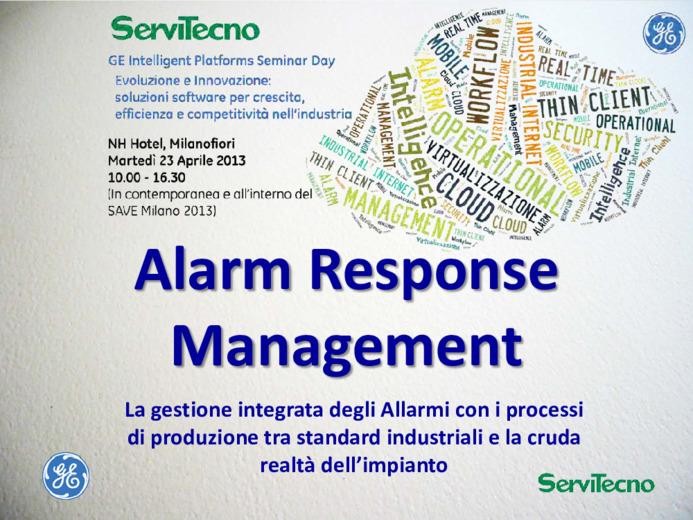 Alarm Response Management, la gestione integrata degli Allarmi nei processi