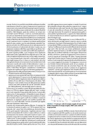 Alcune riflessioni sul processo di cogenerazione di calore e elettricità.