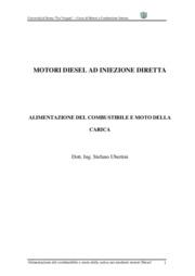 Alimentazione del combustibile e moto della carica nei moderni motori