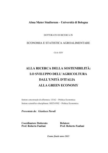 Alla ricerca della sostenibilità: lo sviluppo dell