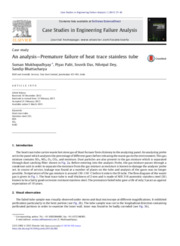 An analysis - Premature failure of heat trace stainless tube