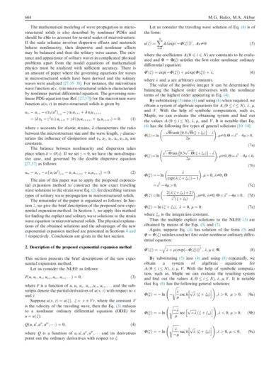An exponential expansion method and its application to the strain