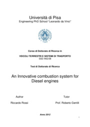 An innovative combustion system for Diesel engines