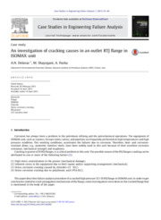 An investigation of cracking causes in an outlet RTJ flange