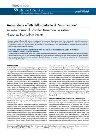 """Analisi degli effetti della costante di """"mushy-zone"""" sul meccanismo di"""