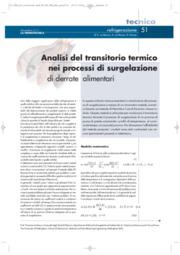 Analisi del transitorio termico  nei processi di surgelazione di