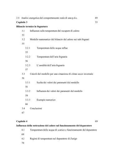 Analisi delle fognature e relative applicazioni energetiche