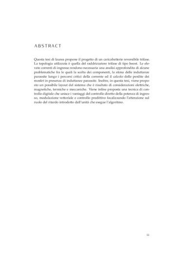 Analisi e progetto di un caricabatterie con raddrizzatore trifase a