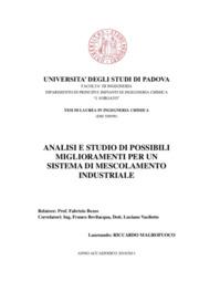 Analisi e studio di possibili miglioramenti per un sistema di
